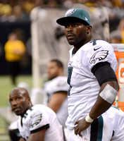 Eagles QB Michael Vick: We are out there, fighting as hard as we can, giving it everything we got.