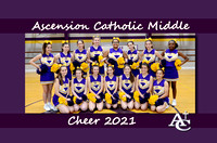 Ascension Catholic Middle School Cheer 2020-2021 {Photographer Michael Tortorich}