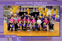 {Senior Night} Ascension Catholic vs. East Iberville High School Volleyball 2020 {Michael Tortorich}