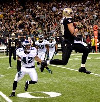 New Orleans Saints QB Drew Brees on tight end Jimmy Graham:  I love having him on my team.