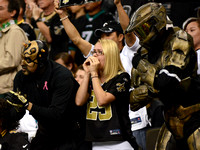 New Orleans Saints fans cheer their team to victory over the Philadelphia Eagles