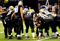 New Orleans Saints offense huddle
