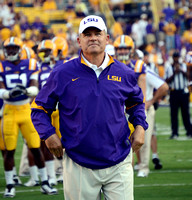 LSU football coach Les Miles - Michael Tortorich Photography